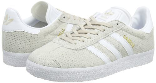 adidas Originals Womens Gazelle Casual Shoe Brown/White/Gold Mt BY9360