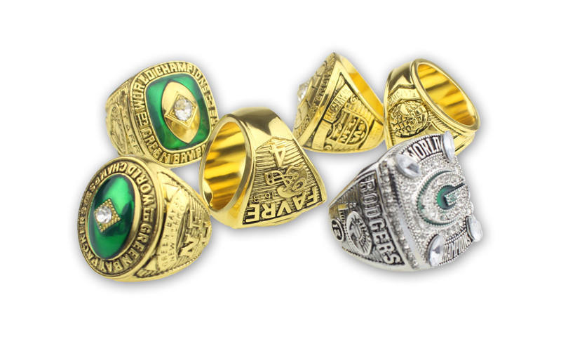 Green Bay Packers Super Bowl Championship Ring Set (Size 11) In Display Box