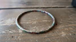 "Antique Vintage Chinese Cloisonne Bangle Bracelet 2.5"" inner diameter - $23.75"
