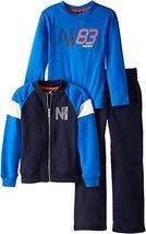 Nautica Little Boys' 3 Piece Set Zip Up Fleece Long Sleeve Tee Fleece Pant 1, Sp