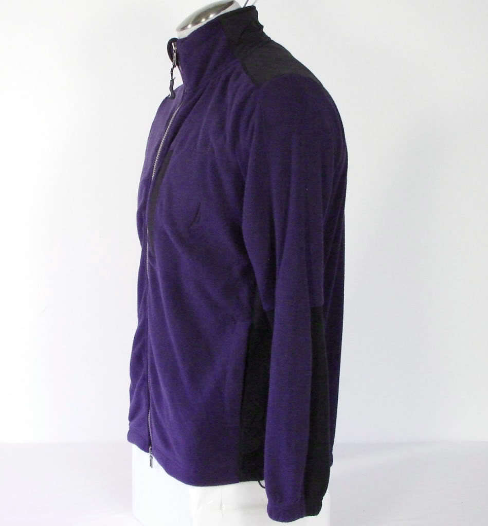Nautica Zip Front Deep Cobalt Fleece Jacket Mens Small S NWT $79 image 4