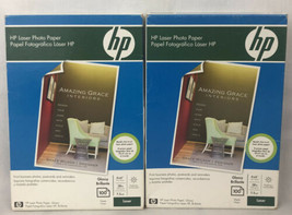 """2 Pk New Sealed Hp Laser Photo Paper 4"""" X 6"""" Glossy 100 Sheets Each Q8842A - $38.71"""