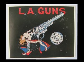 L.A. GUNS 1989 Cocked And Loaded Promotional Postcard / Sticker - $4.00