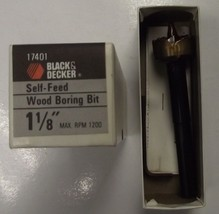 "Black & Decker 17401 1-1/8"" Self Feed Wood Boring Drill Bit USA - $7.43"