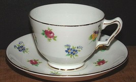 Crown Staffordshire Cup & Saucer - Pansy Rose - $11.63
