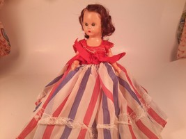Vintage Doll, Mohair, Hard Plastic~ Storybook Doll~ Made in USA - $12.86