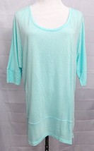 Gap Designed and Crafted T-Shirt Aqua Blue Turquoise Rayon Slinky Top size Small - $15.81