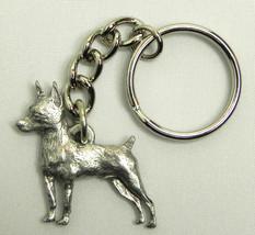 Miniature Pinscher Dog Keychain Keyring Harris ... - $9.48