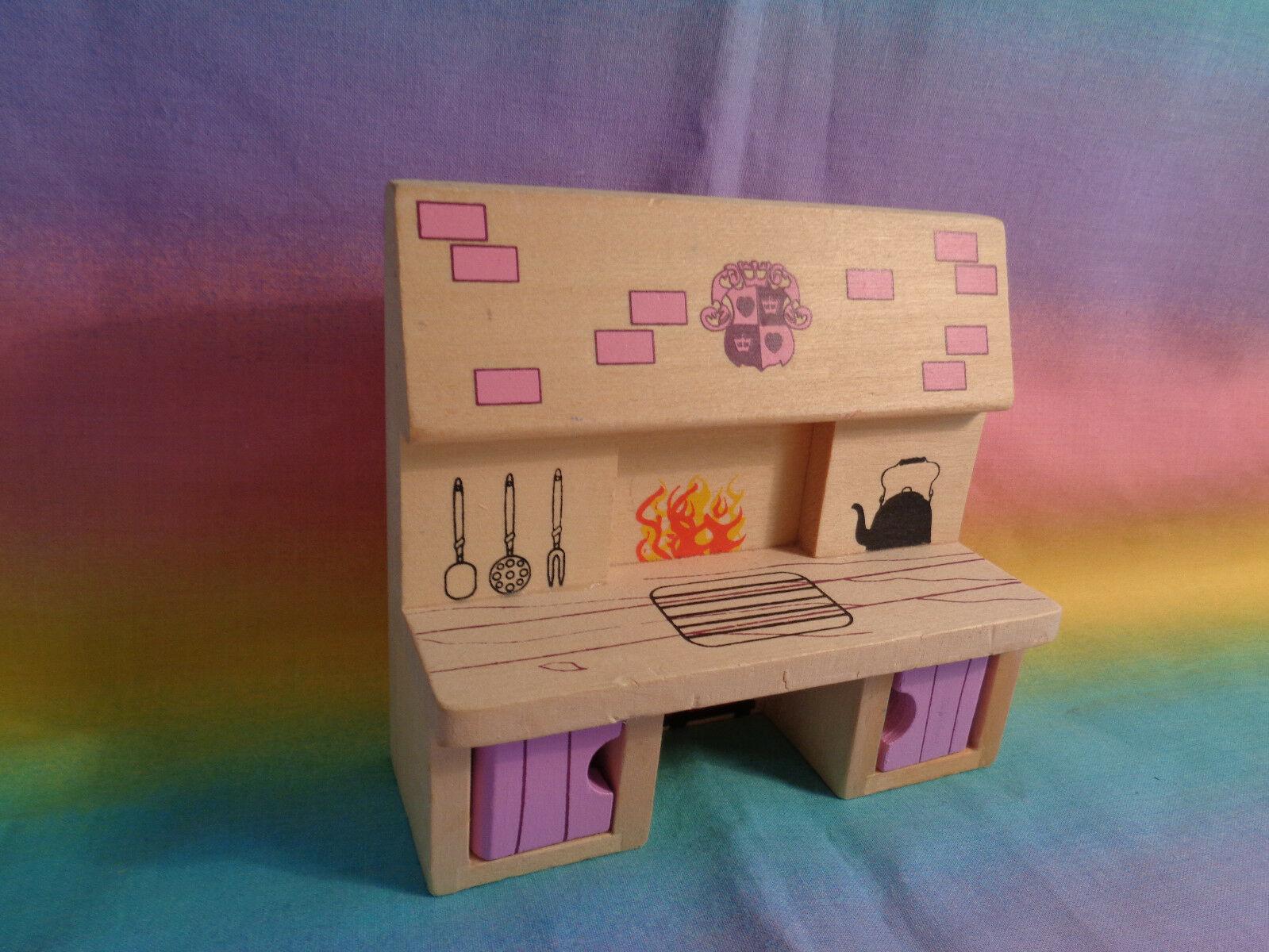 Melissa & Doug Princess Castle Wood Doll Furniture Replacement Kitchen Stove image 2