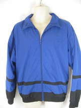 Speedo Small Blue Black Lightweight Zip Up Jacket Windbreaker - $13.85
