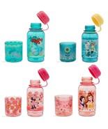Disney Store Snack Drink Bottle Ariel Frozen Minnie Mouse Princess New - $34.95