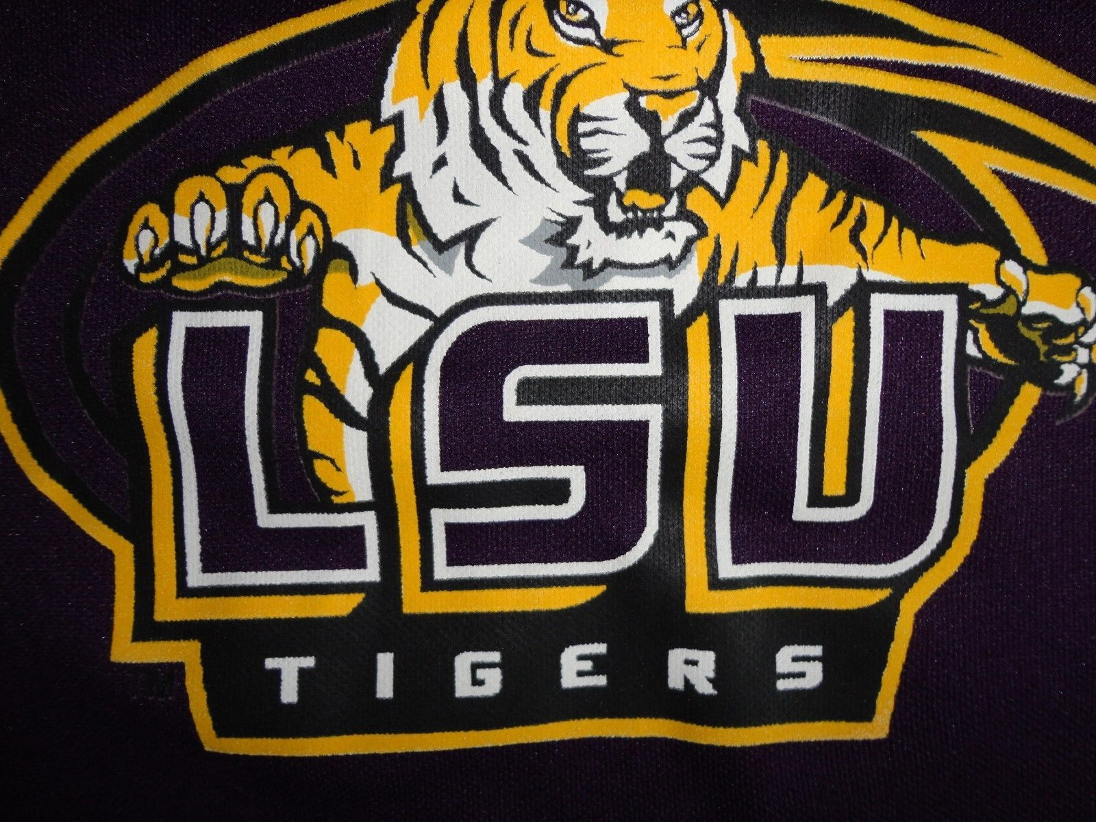 Primary image for Purple LSU Tigers Franklin  NCAA Football Screen Jersey Youth S NICE