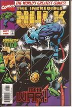 Marvel The Incredible Hulk #456 Meet War Bruce Banner Drama Action - $3.95