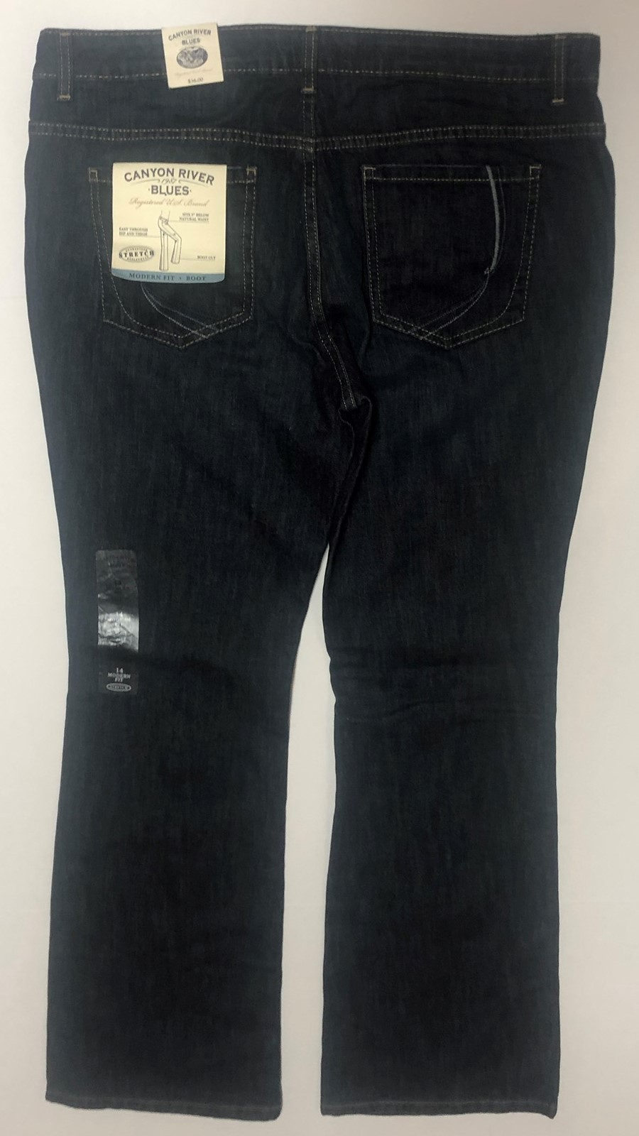 Canyon River Blues Jeans Boot Cut Low Waist Sz 14 Average Stretch image 8