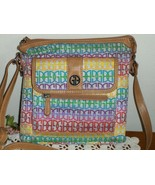Giani Bernini Crossbody Organizer Bag Multi Color Logo Purse Purse Tote  - $24.99