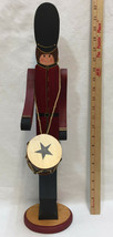 "Little Drummer Boy Figure Figurine 21"" Wood Wooden Handmade Painted Chri... - $18.80"