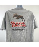 Moose Drool Brown Ale Beer Big Sky Brewing Co T Shirt Mens XL Gray - $21.73