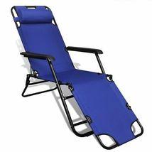 vidaXL 2x Folding Sun Loungers Reclining Chairs 3 Positions Sunbeds 3 Colors image 6