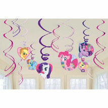 My Little Pony Friendship 12 pc Hanging Swirl Decorations set - $7.99