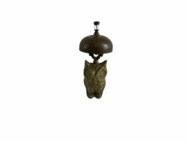 Vintage Hotel Motel Front Desk Solid Brass Owl Bellhop Service Clerk Bell image 2