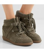 40 / 9.5 US - Isabel Marant Etoile Brown Bobby Wedge Sneakers w/ Box NEW... - $600.00