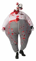 Rubies Inflatable Evil Scary Bloody Clown Adult Unisex Halloween Costume... - £36.14 GBP