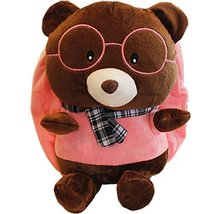Baby Knapsack Infant Cute Bear Backpack Prevent From Getting Lost(Pink)