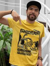 Ghidrah three-headed monster t-shirt Godzilla Monster King Ghidorah gold retro image 3