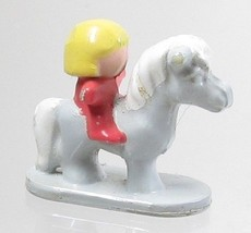 1991 Original Polly Pocket Dream World - Misty - Gray Horse with Rider B... - $7.50