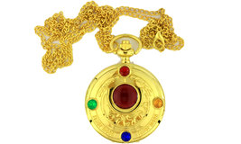 Sailor Moon Necklace Pocket Keychain Watch Gold Color Anime Inspired - $12.79+