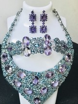 New Huge1000+ct Natural Amethyst Zircon SS necklace, bracelet,  earrings... - $19,999.99