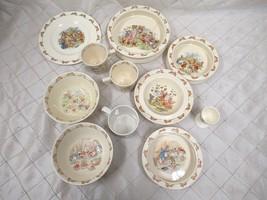 Bunnykins Royal Doulton Vintage China Set Bowls Dish Egg Mug Plate Wedgwood LOT - $57.87