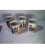 NORMAN ROCKWELL--SET OF 4 COFFEE MUGS--1982--GOOD OLD DAYS--SHIPS FREE--... - $26.93