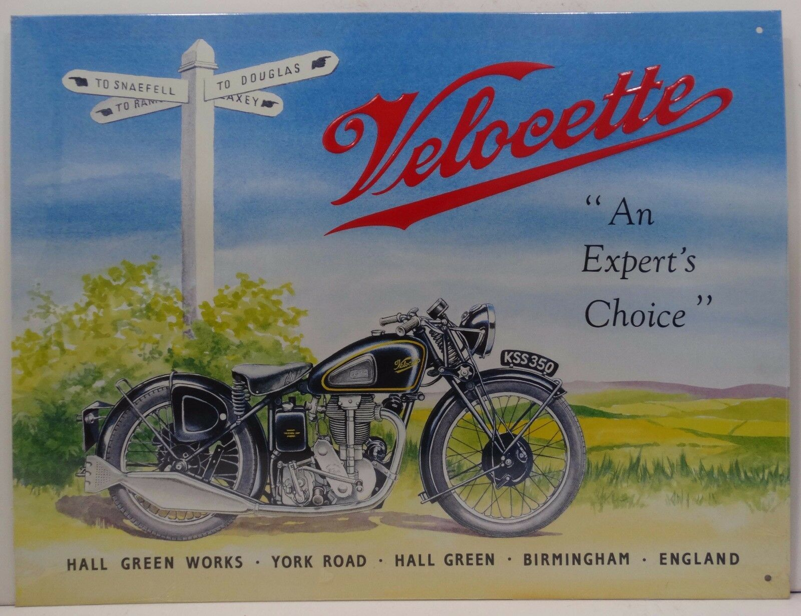 Velocette Motorcycle Metal Sign