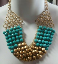 Vintage Massive Bead Cluster Runway Chain Necklace - $58.41