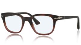 New Persol  PO3093V 9025 Havana Gradient/Red Antique Eyeglasses Frame 48mm - $79.20