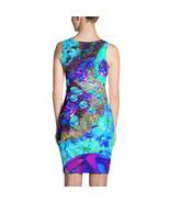 """Buoyant Blue Lights"" by Creative Devotions Ladies Bodycon Blue Dress Sl... - $43.50"