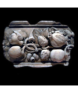 Fruits and Nuts  Decorative Wall Relief Sculpture Plaque - $64.35