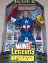 "Marvel Legends Icons Captain America Unmasked Variant 12"" ToyBiz 2006 - $42.07"