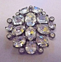 FUR CLIP EISENBERG ORIGINAL Fir clip has clear shiny RHINESTONES - $79.19