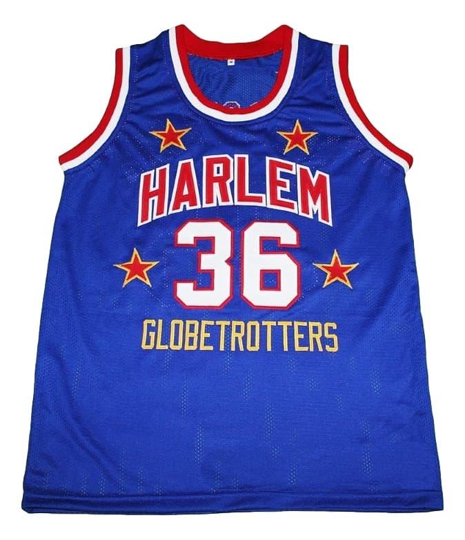 Meadowlark #36 Harlem Globetrotters New Men Basketball Jersey Blue Any Size