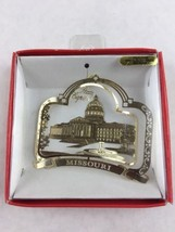 Nations Treasures Missouri State Capitol 24K Brass Metal Souvenir Ornament - $15.00
