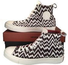 Converse X Missoni Chuck Taylor All Star High Top Stitched BROWN $150 15... - $45.00