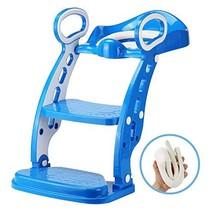 Potty Toilet Trainer Seat - Adjustable Sturdy Non-Slip Step Stool (Blue) - $78.65