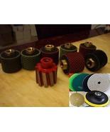 "2"" Zero Tolerance grinding Drum Polishing Drum 80 Polishing Pad granite ... - $342.53"