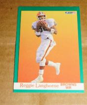 1991 Fleer Card, Stan Humphries #387, Reggie Langhorne #37, Mike Johnson #36 - $1.50