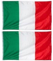 Juvale 2-Piece Italy Flags - Outdoor 3x5 Feet Italian Flags, Italia Nati... - $25.38