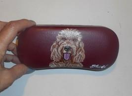 Goldendoodle dog Art Portrait Eyeglass Glasses Spectacles Case Hand Pain... - $34.00