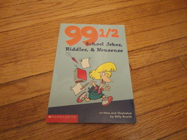 BOOK Holly Kowitt '99 1/2 School Jokes Riddles and Nonsense' PB kids fun  - $1.99