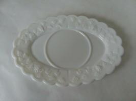Vintage Westmoreland Milk Glass Grapes Pattern Gravy Boat Underplate - $15.83